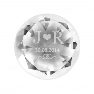 Initials Diamond Paperweight