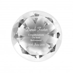 Occasion Diamond Paperweight