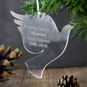 Acrylic Dove Decoration