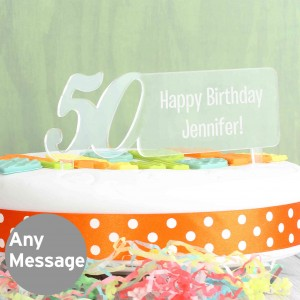Acrylic 50th Birthday Cake Topper