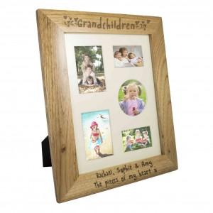 Grandchildren 10x8 Wooden Photo Frame