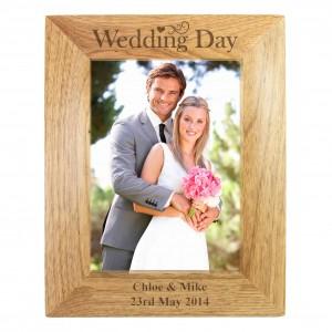 Wedding Day 6x4 Wooden Photo Frame