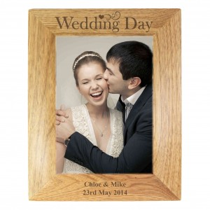Wedding Day 5x7 Wooden Photo Frame