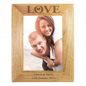 Love 6x4 Wooden Photo Frame