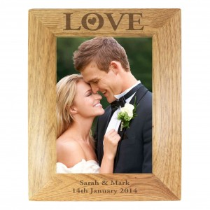 Love 5x7 Wooden Photo Frame