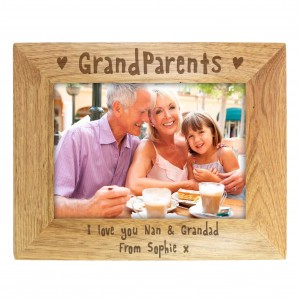 5x7 Grandparents Wooden Photo Frame
