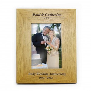 Oak Finish 6x4 Formal Portrait Photo Frame