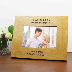 Oak Finish 6x4 Landscape Photo Frame - Long Message