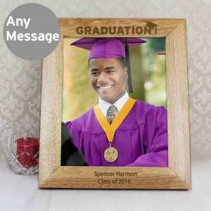 10x8 Graduation Wooden Photo Frame