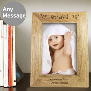 6x4 Grandchild Wooden Photo Frame