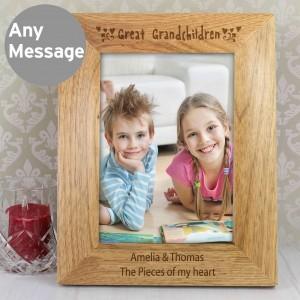 5x7 Great Grandchilden Wooden Photo Frame
