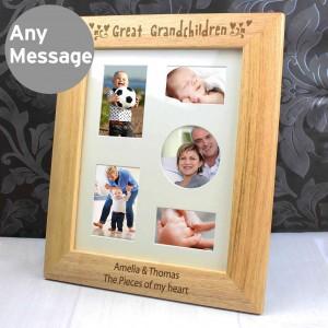 10x8 Great Grandchildren Wooden Photo Frame
