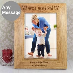 5x7 Great Grandchild Wooden Photo Frame