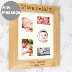 10x8 Great Grandchild Wooden Photo Frame