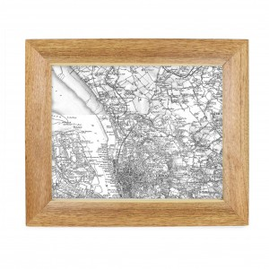 Postcode Map 10x8 Wooden Frame - Old Series