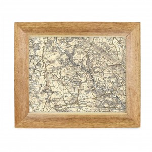 Postcode Map 10x8 Wooden Frame - Revised New