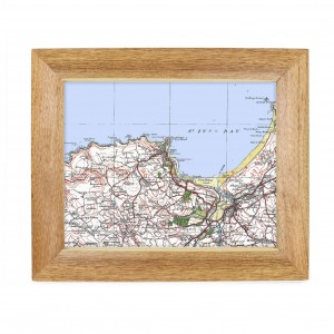 Postcode Map 10x8 Wooden Frame - Popular Edition