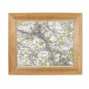 Postcode Map 10x8 Wooden Frame - New Popular Edition