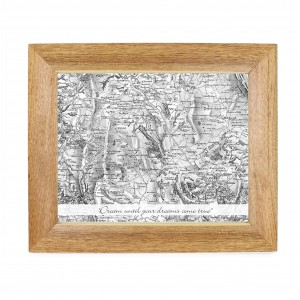 Postcode Map Wooden 10x8 Photo Frame - Old Series With Message