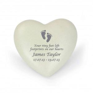 Footprints Heart Memorial