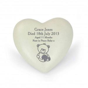 Teddy Bear Heart Memorial