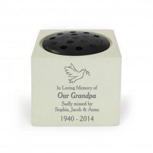 Dove Memorial Vase