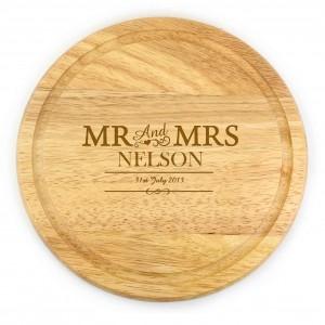Mr & Mrs Round Chopping Board