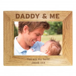 Daddy & Me 5x7 Wooden Photo Frame