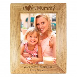 I Heart My... 5x7 Wooden Photo Frame