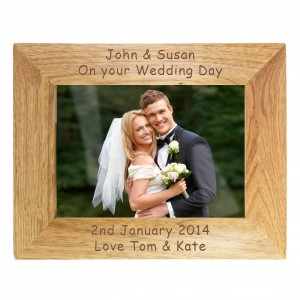 6x4 Landscape Wooden Photo Frame