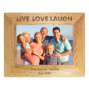 Live Laugh Love 6x4 Wooden Photo Frame