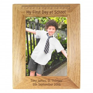 My First Day At School 6x4 Wooden Frame
