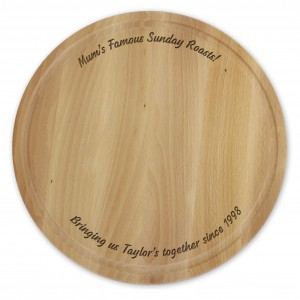 Plain Large Round Chopping Board