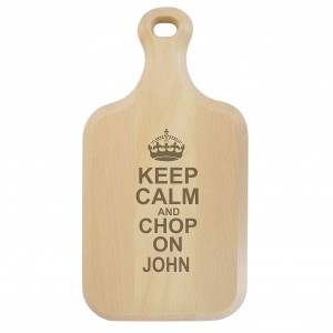 Keep Calm Large Paddle Chopping Board