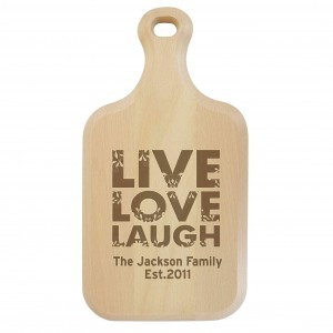 Live Love Laugh Large Paddle Chopping Board