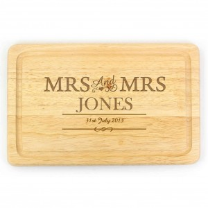 Mrs & Mrs Large Chopping Board