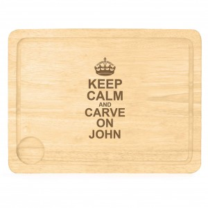 Keep Calm & Carve On Carving Board