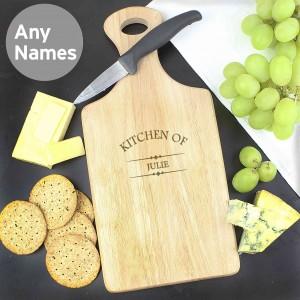 Kitchen Of Large Paddle Chopping Board