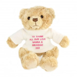 Pink Teddy Message Bear