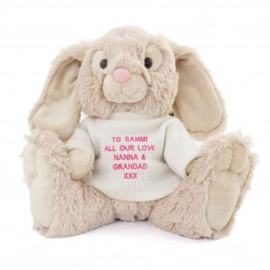 Pink Message Bunny