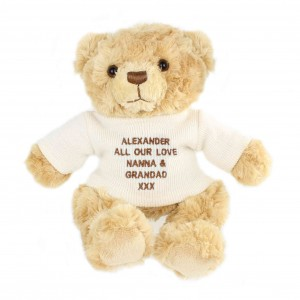 Cream Teddy Message Bear