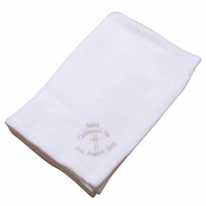 Christening Cross Blanket