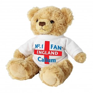 No1 England Fan Message Bear