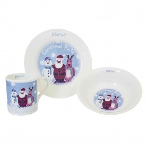 Snow Scene Breakfast Set