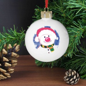Snowman Red Nose Bauble