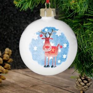 Red Nose Reindeer Bauble