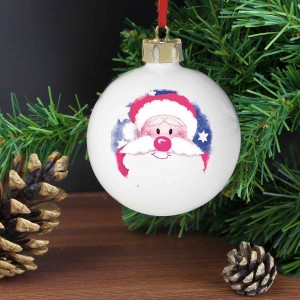 Red Nose Santa Bauble