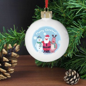 Snow Scene Trio Bauble