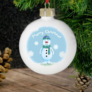 Snow Scene Snowman Bauble