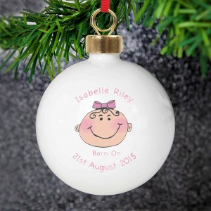 Baby Girl Keepsake Bauble